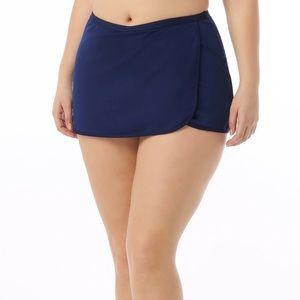 Cacique navy swim skirt
